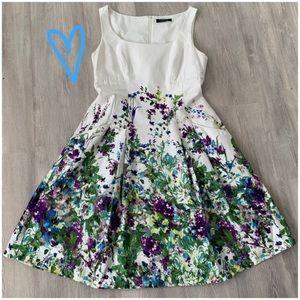 Lauren RL Sleeveless Floral Fit & Flare Dress